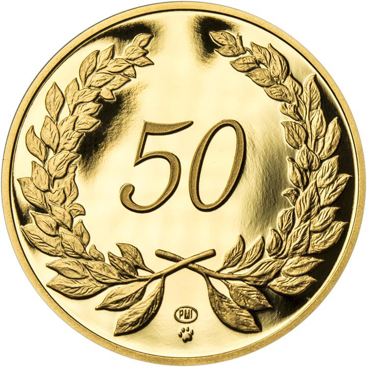 Zlatá pamětní mince